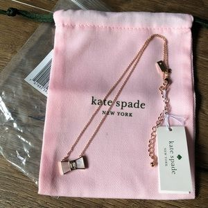 KATE SPADE-NWT RG Plated Bow NECKLACE